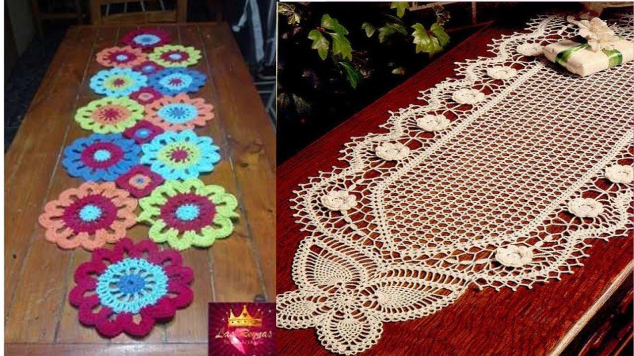 Manteles para mesas tejidos a crochet n 07 youtube - Mantel de crochet ...