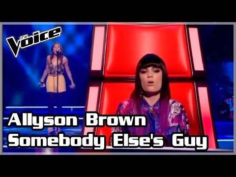 Allyson Brown - Somebody Else's Guy (The Voice UK 2012, season 1, blinds)