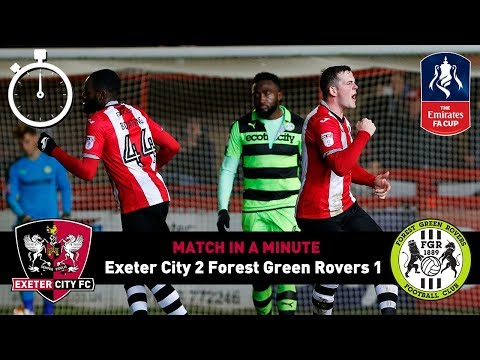 Match in a Minute: Forest Green Rovers (FA Cup) 12/12/17   Exeter City Football Club