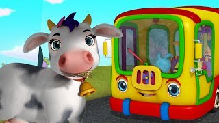 The Wheels On The Bus Pet Animal Edition | Rhymes for Children | Infobells