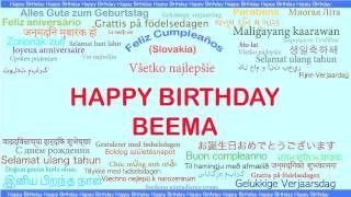 Beema   Languages Idiomas - Happy Birthday