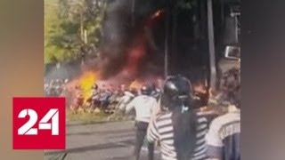 Смотреть видео Взрывы у церквей в Индонезии: количество жертв и раненых растет - Россия 24 онлайн