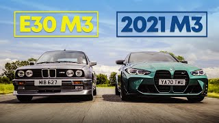 homepage tile video photo for Can A 30-Year Old E30 M3 Keep Up With A New G80 M3?