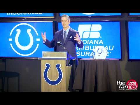 Frank Reich Colts Introductory Press Conference