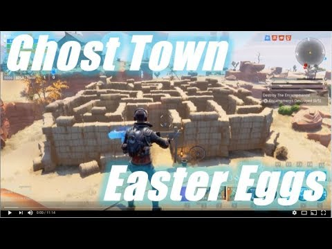 Ghost Town, Easter Eggs :) / Fortnite Save the World