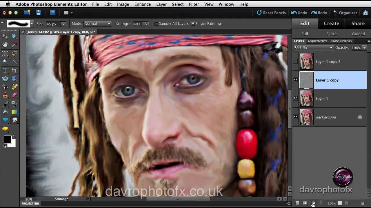 How To Make A Oil Paint Smear In Photoshop