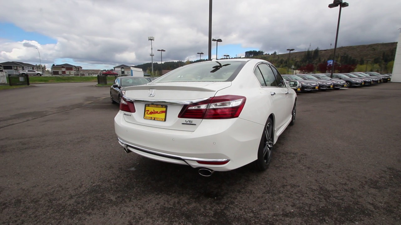 2017 Honda Accord Touring White Orchid Ha027499 Seattle