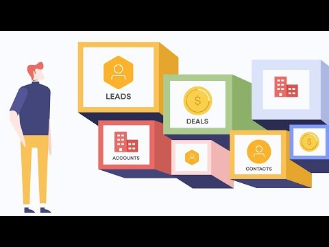 What are leads, contacts, accounts, and deals in Freshsales CRM?