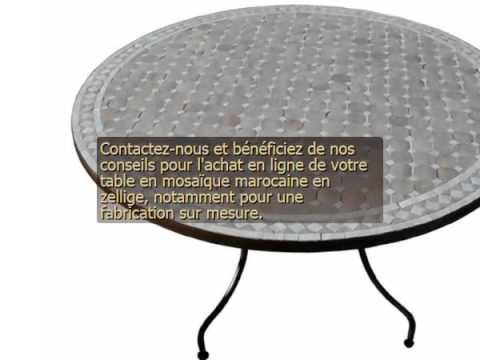 Table ronde zellige - YouTube