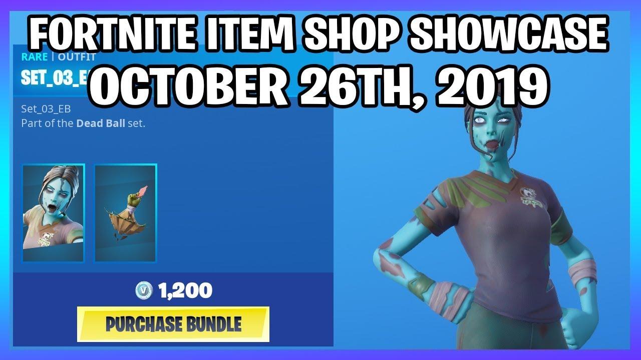 New Zombie Soccer Skins Fortnite Item Shop 26th October