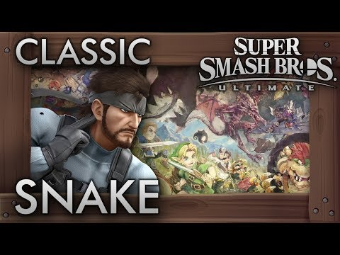 Super Smash Bros. Ultimate: Classic Mode - SNAKE - 9.9 Intensity No Continues