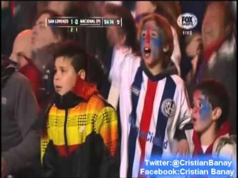 San Lorenzo 1 Nacional 0 (Relato Mariano Closs) Copa Libertadores 2014