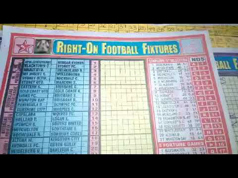 Week 49 - 52, 2019 Aussie Pools Right-On Football Fixtures