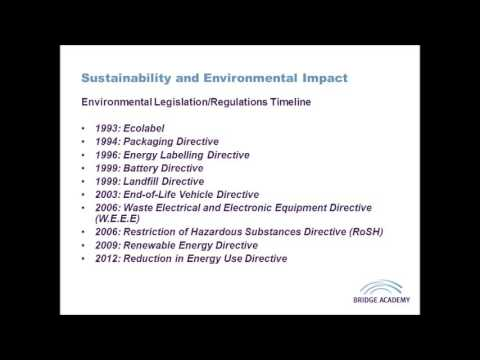 Sustainability and Environmental Impact (Legislation & Regul