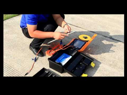 Operation video of Dam Piping Leak Detector