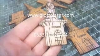Ahşap Magnet Hediyelik Lazer Kesim Giotto Galvo Lazer 05337133444