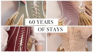 60 Years of Stays: Trying on All My 18th Century Stays, 17401800