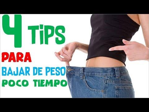 Como Bajar de Peso En Poco Tiempo - 4 Tips Para Adelgazar