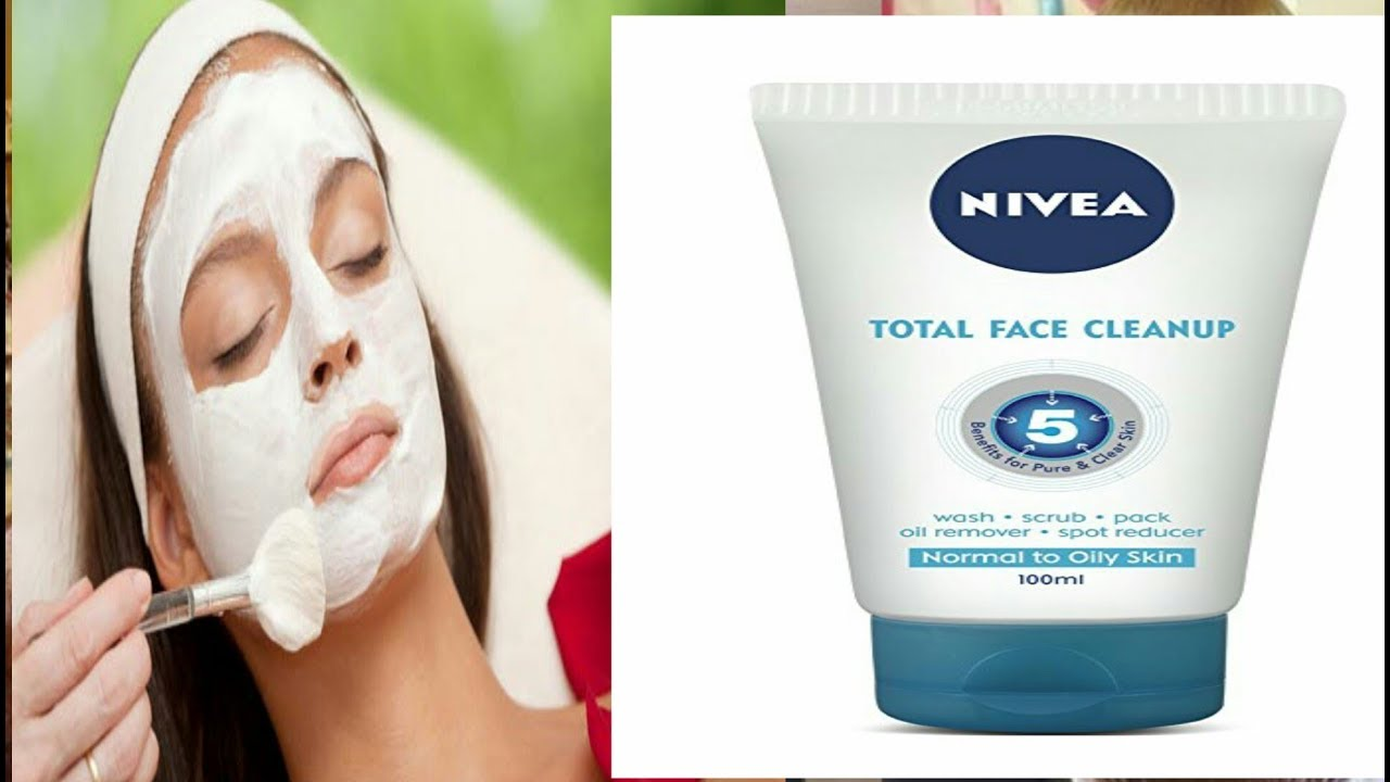 Nivea Total Face Clean Up Review Ll Wash Scrub Pack Oil Removal Spot Reducer For Normal To Oily Skin
