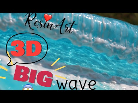 RESIN, 3D BIG WAVE simple mold. resin art. DIY. EASY not so much easy.