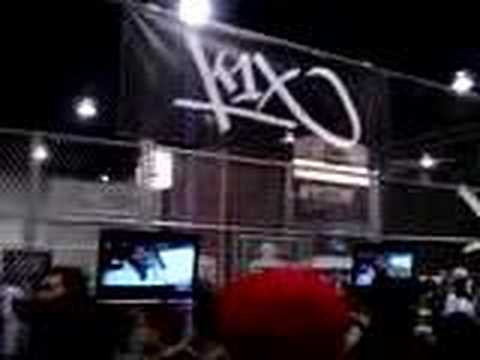 freestyle battle at the k1x booth at the magic trade fair