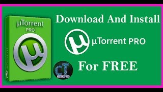 Gambar cover How to Download and Install  uTorrent PRO for free.