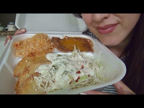 ASMR: Potato Tacos | Tacos Dorados de Papa | Mexican Food | Eating Sounds