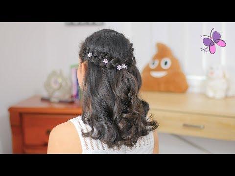 Peinado Fácil Para Graduación | Peinado Para Primera Comunión | Peinados Para Niñas