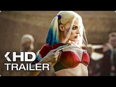 SUICIDE SQUAD Trailer Compilation German Deutsch (2016)