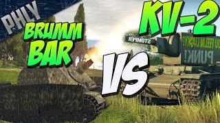 brummbar vs kv 2 battle of the derps war thunder tanks