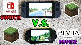 Minecraft Nintendo Switch V.S. Minecraft PSVita Comparison