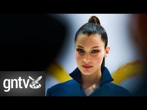 Model Bella Hadid visits Dubai for Dior exhibition