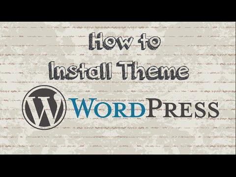 How to install WordPress theme with 2 Methods - 동영상