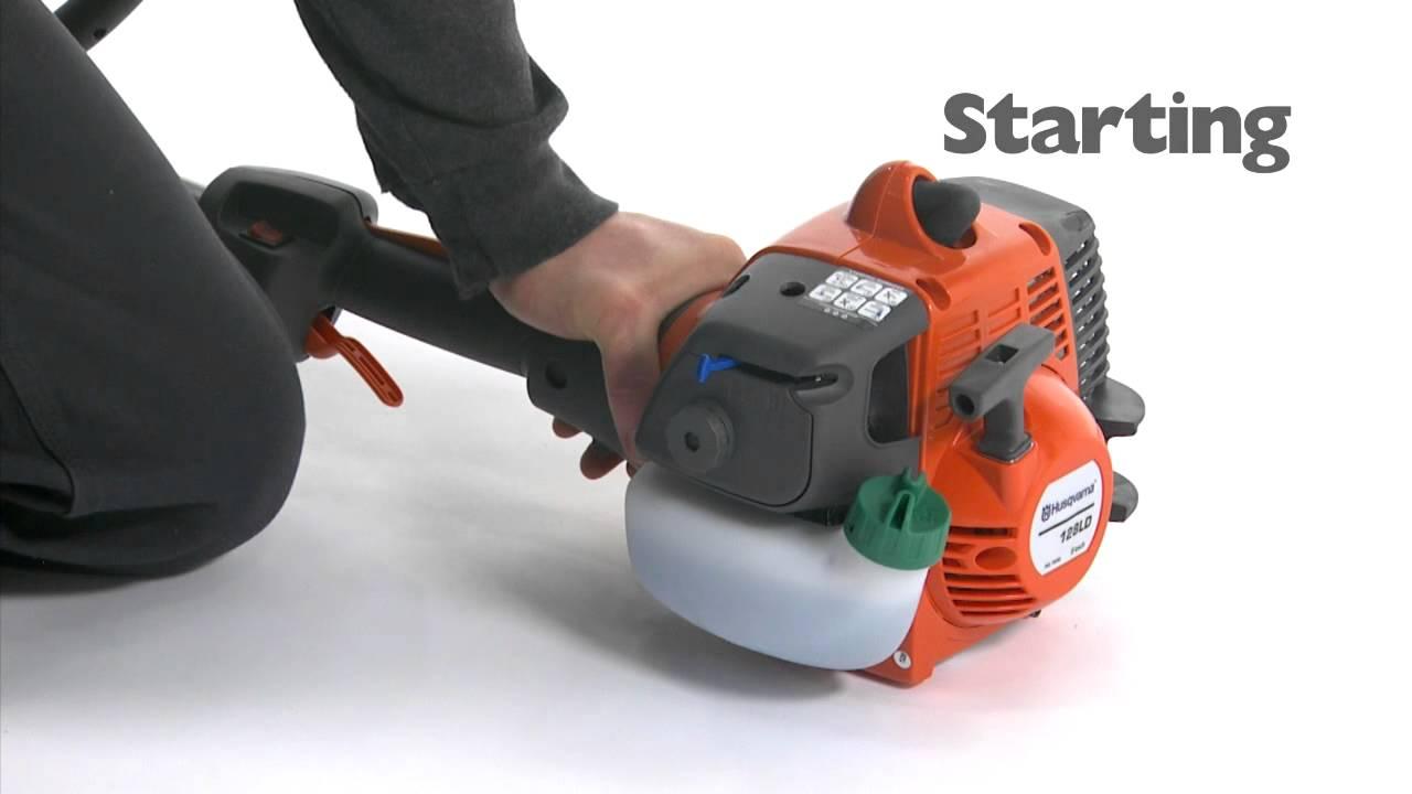how to start a husqvarna string trimmer youtube rh youtube com CR 125 Honda 125