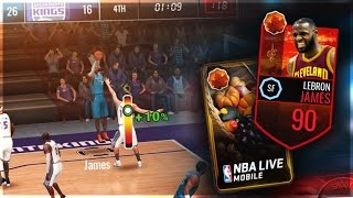 90 Overall Harvest Lebron James Gameplay + Cornucopia Pack Opening! NBA Live Mobile