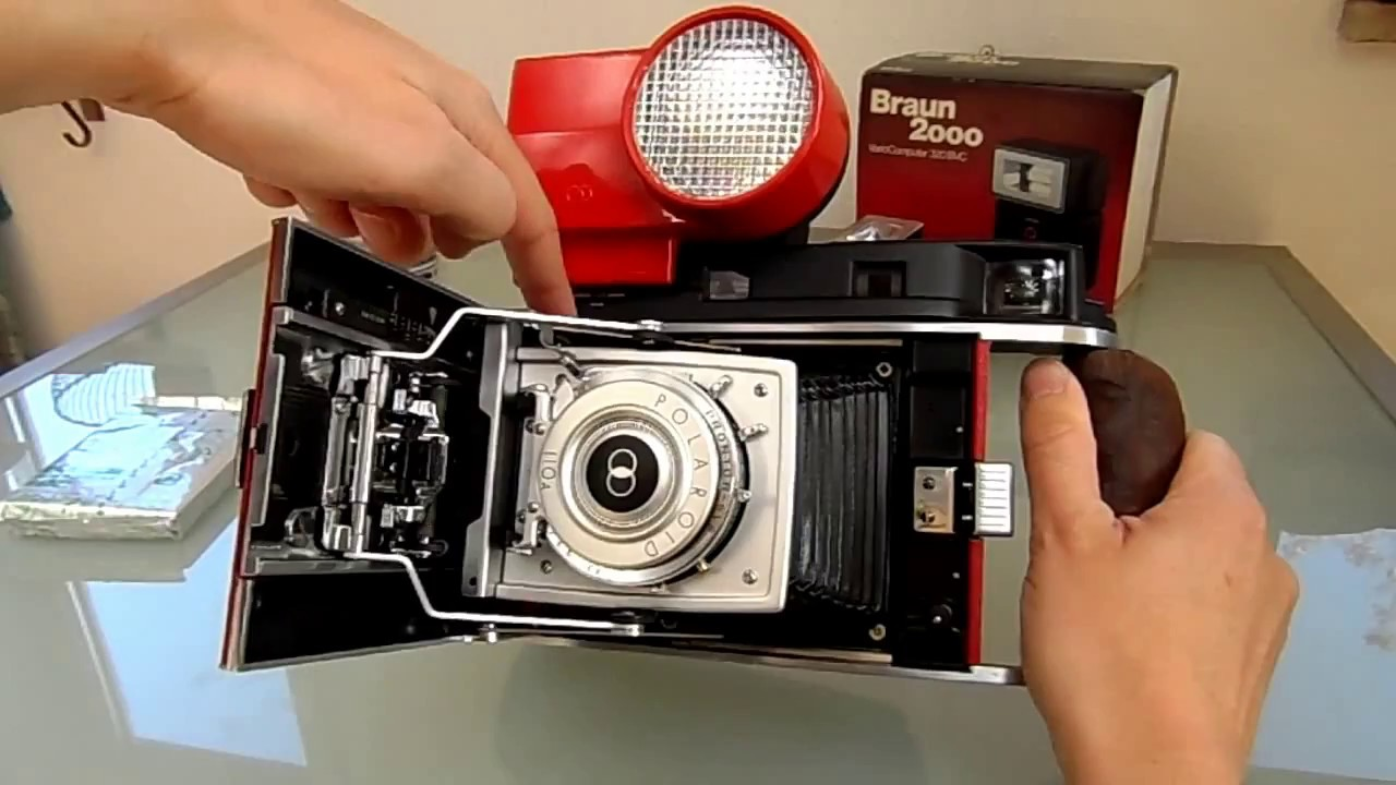 Polaroid 110A converted for Instax Wide Film - DIY modification