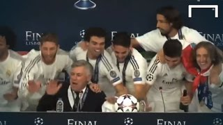 Real Madrid players troll Ancelotti after 2014 UCL win | Throwback Thursday