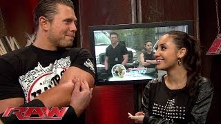 "Francia Raisa wishes her ""Christmas Bounty"" co-star, The Miz, good luck before his match"