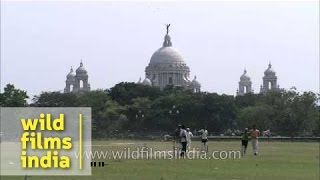 View Of Victoria Memorial From Maidan - Kolkata