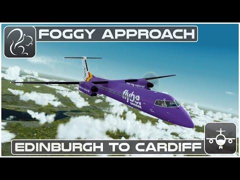 [P3D] Foggy Approach - Dash 8 Q400 Shared Cockpit (EGPH-EGFF)