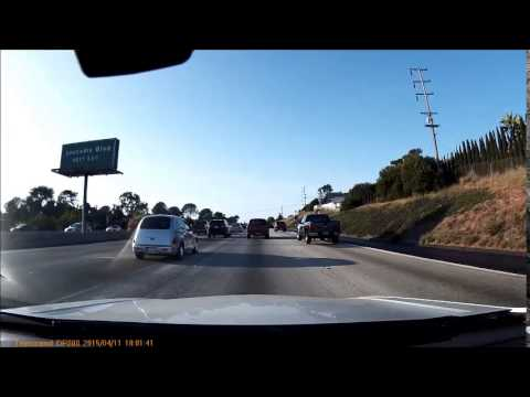 Driving in San Diego - Highway I-805 Oceanside 1080HD