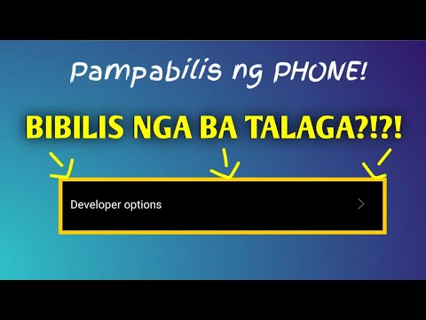 Pabilisin ang phone! using Developer Options in ANDROID!!