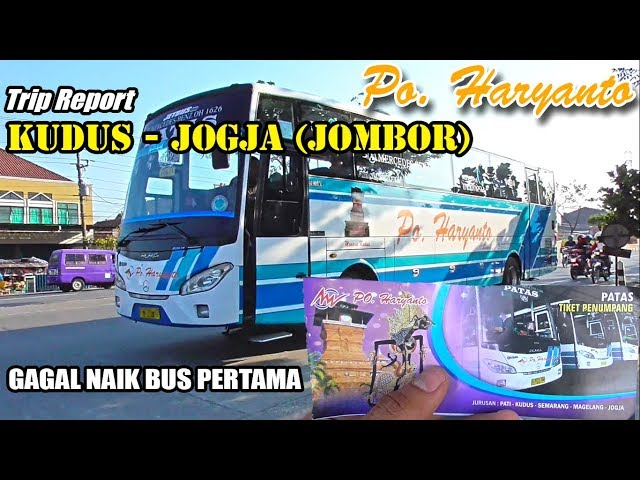 TRIP REPORT : Ke JOGJA Naik Bus Patas Haryanto, MERCEDES BENZ OH 1626