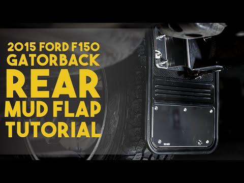 Gatorback Rear Universal Mudflap + Custom Bracket Installation on 2015 Ford F150