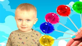 Timur and Mommy pretend play with Lollipops by Funny Timur
