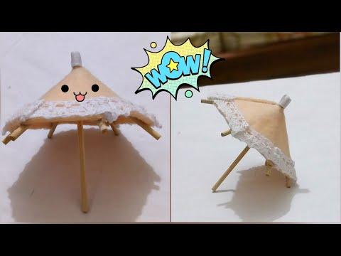 DIY Mini Umbrella   How to make paper  umbrella