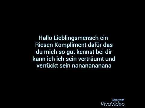 Lieblingsmensch songtext hallo Lieblingsmensch Lyrics