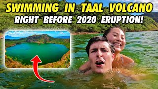 WE SWAM in boiling hot TAAL VOLCANO before ERUPTION!