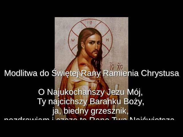 Modlitwa do ?wi?tej Rany Ramienia Chrystusa