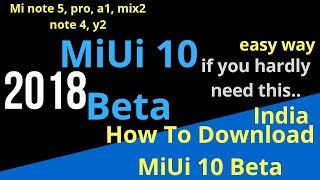 How to update MiUi 10 in mi note 5 pro, 5,4, A1 l Easy way, no developer or zip file download needed